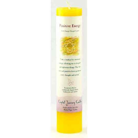 Positive Energy Reiki Charged Pillar Candle