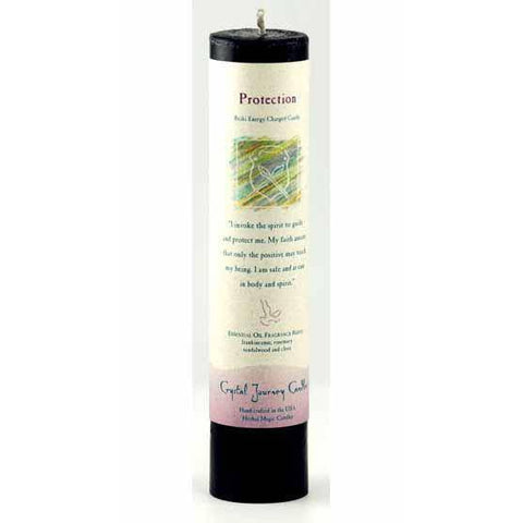Protection Reiki Charged Pillar Candle