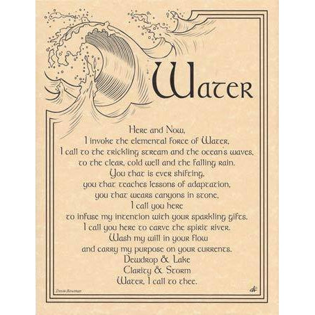 Water Invocation Poster