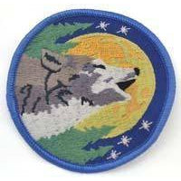 Wolf Sew-on Patch 3