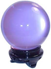 95 Mm Lavender Crystal Ball