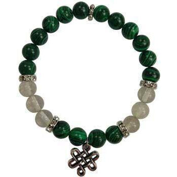 8mm Malachite- Quartz With Celtic Knot