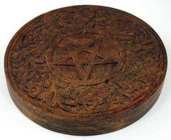 Wooden Pentagram Altar Tile 6""