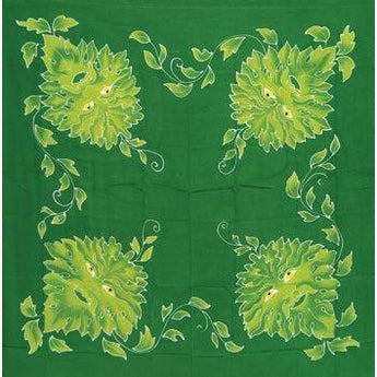 Green Man Altar Cloth Or Scarve 36