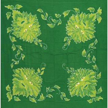 "Green Man Altar Cloth Or Scarve 36"" X 36"""