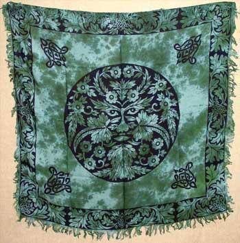 "Greenman Altar Cloth 36"" X 36"""
