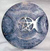 Soapstone Triple Moon Altar Tile 3