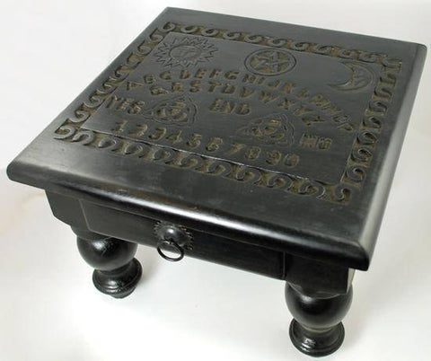 "Spirit Board Altar Table With Drawer 12"" X 12"" X 9"""