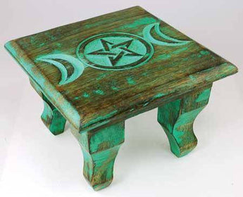 Antiqued Triple Moon Altar Table 6