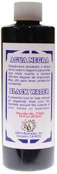8oz Black Water (aqua Negra)