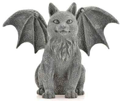 Winged Cat Gargoyle 6 1-2""