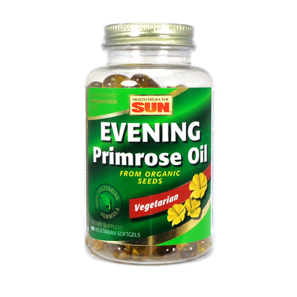 Health From The Sun Evening Primrose Oil Organic Vegan Softgel 1000mg 90ct