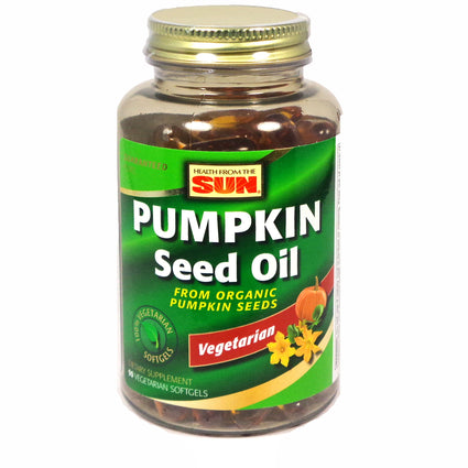 Pumpkin Seed Oil by Health From the Sun - 90 Softgels