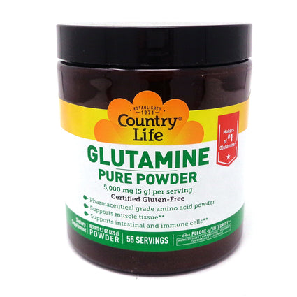 Country Life Glutamine Powder - 55 Servings