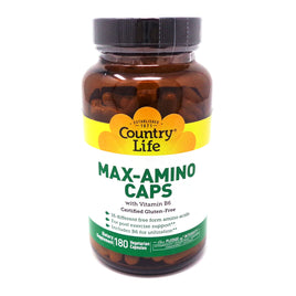 Country Life Max-Amino with B-6  180 Vegetarian Capsules