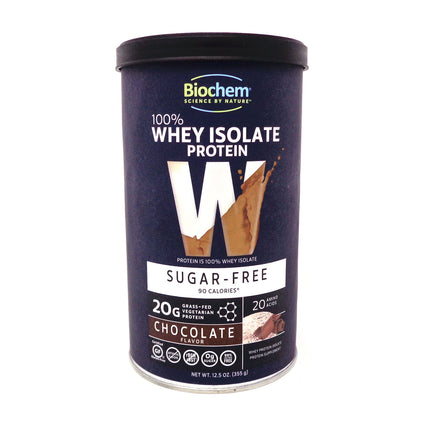 100% Whey Protein Sugar Free Chocolate By Biochem - 15.2 Ounces
