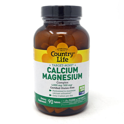 Calcium-Magnesium by Country Life 90 Tablets