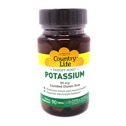 Country Life Potassium 99 mg.  90 Tablets