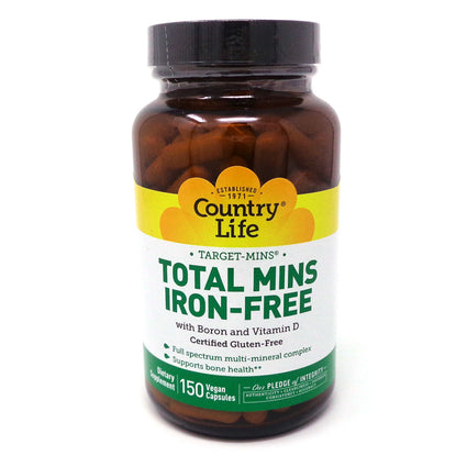 Country Life Total Mins Iron-Free  - 150 Capsules
