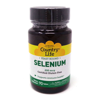 Selenium 200 mcg by Country Life 90 Tablets