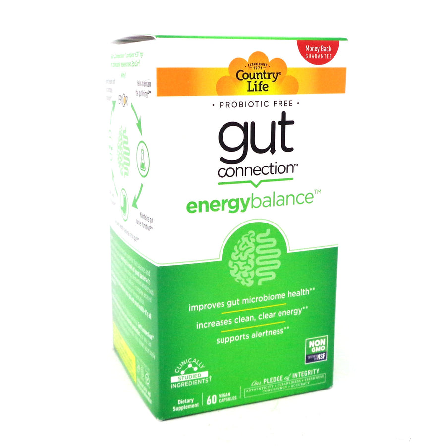 Country Life Gut Connection Energy Balance- 60 capsules