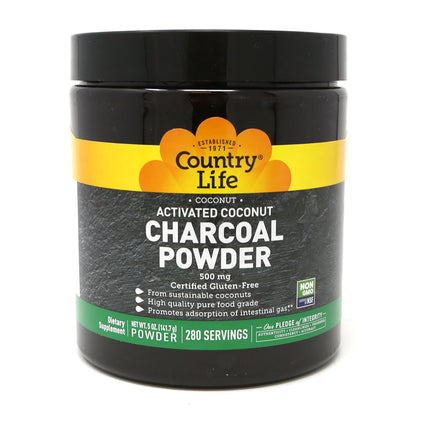 Country Life Activated Coconut Charcoal Powder - 5 Ounces