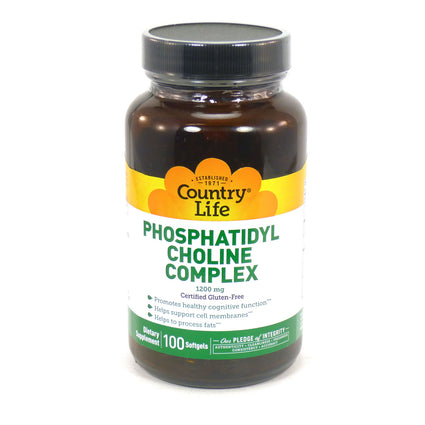 Country Life Phosphatidyl Choline Complex 1200 mg  100 Softgels