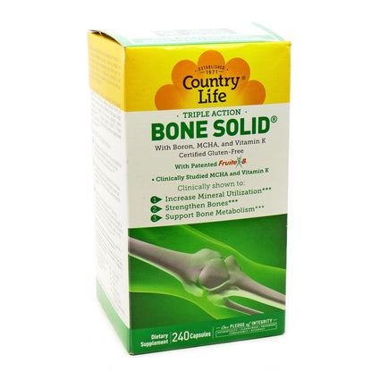 Country Life Triple Action Bone Solid  - 240 Capsules