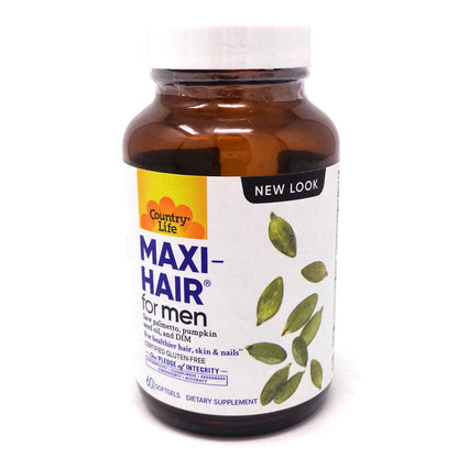 Country Life Maxi-Hair for Men  - 60 Softgels