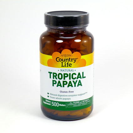 Natural Tropical Papaya by Country Life 500 Wafers