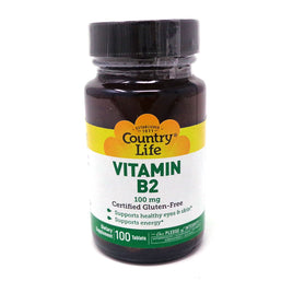 Country Life Vitamin B-2 100 mg  - 100 Tablets