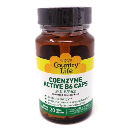 Country Life CoEnzyme Active B-6 50 mg  30 Capsules