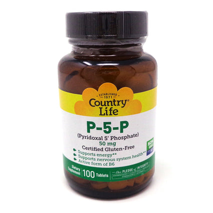 Country Life P5P Pyridoxal-5-Phosphate 50mg  - 100 Tablets