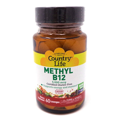 Country Life Methyl B12 5000mcg  - 60 Lozenges