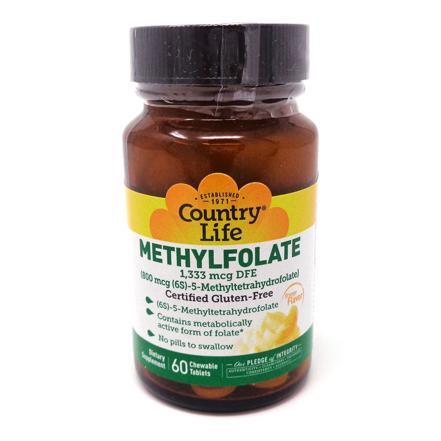 Methylfolate 800 mcg By Country Life - 60 Smooth Melts