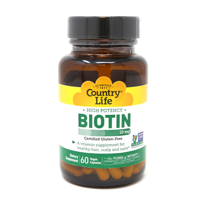 Country Life Biotin 10mg  - 60 Capsules