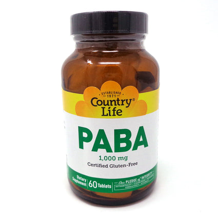 Country Life PABA 1000 mg  - 60 Tablets