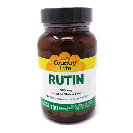 Country Life Rutin 500 mg  100 Tablets