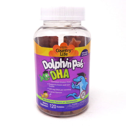 Country Life Dolphin Pals DHA For Kids  - 90 Chewables