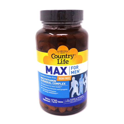 Maxisorb Max For Men Multivitamin By Country Life - 120 Tablets