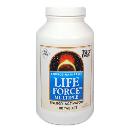 Life Force Multiple No Iron by Source Naturals 180 Tablets
