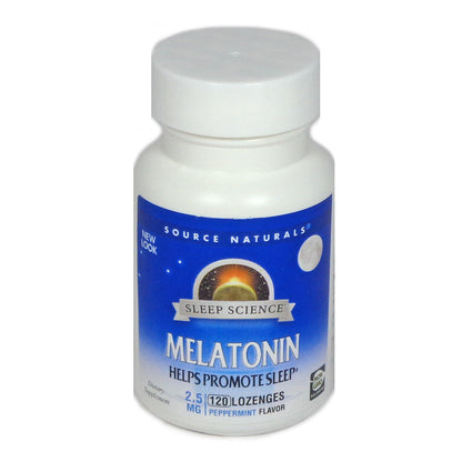 Melatonin Sublinguals 2.5 mg - Peppermint by Source Naturals 120 Tablets