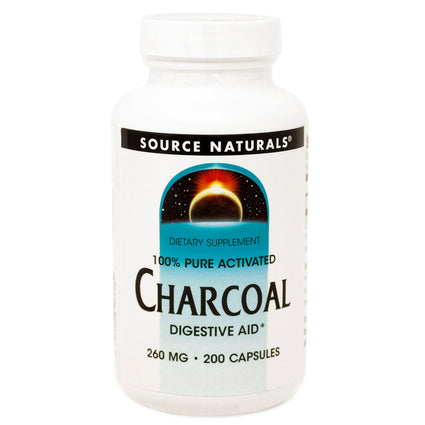 Source Naturals Charcoal - 200 Capsules