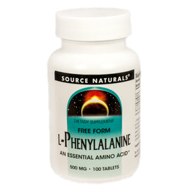 Source Naturals L-Phenylalanine 500 mg - 100 Tablet