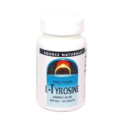 Source Naturals L-Tyrosine 500 mg - 50 Tablet