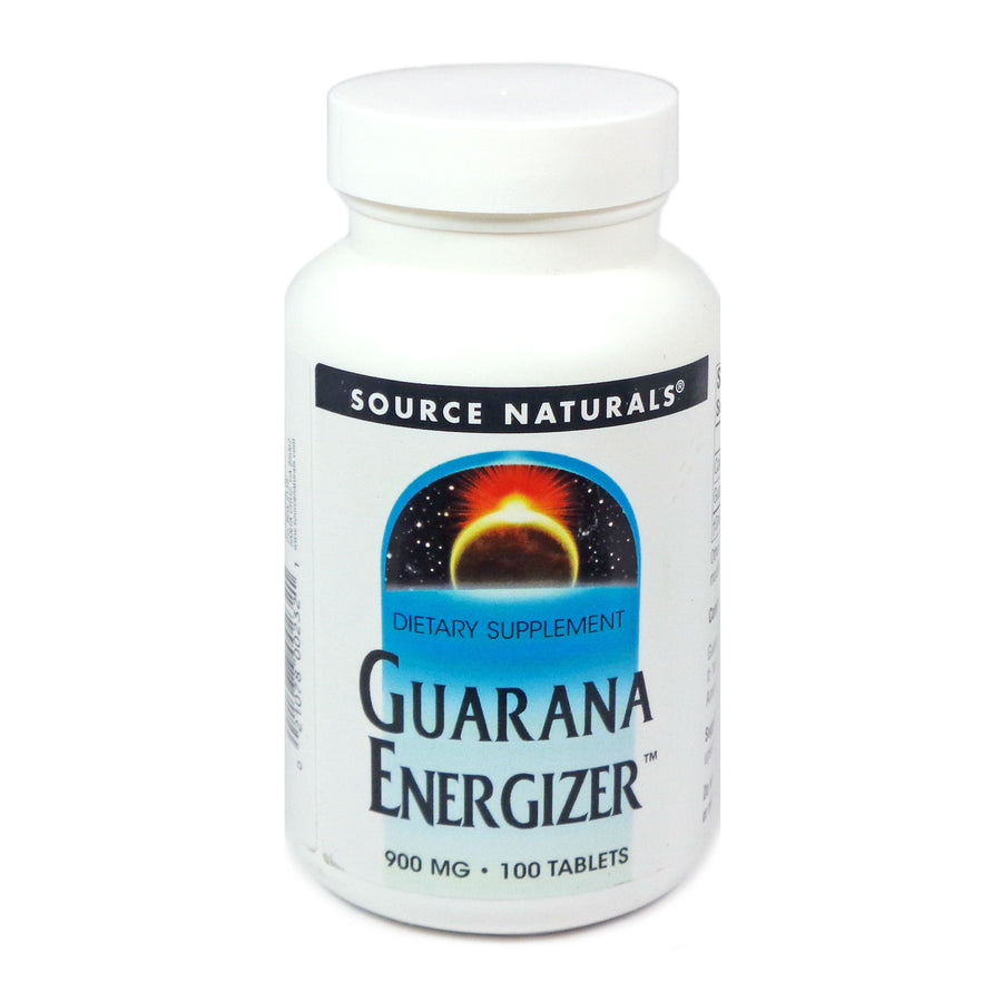 Guarana Energizer 900 mg By Source Naturals - 100 Tablets