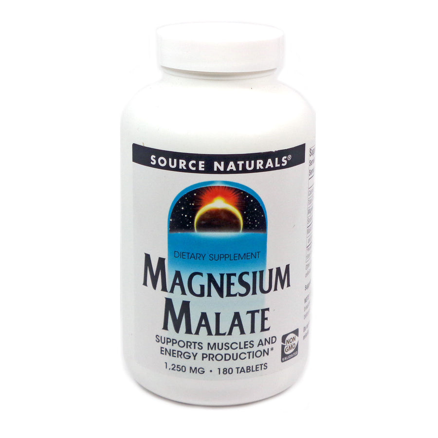 Magnesium Malate 1250 mg by Source Naturals 180 Tablets