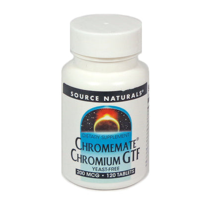 Source Naturals ChromeMate Chromium GTF 200 mcg - 120 Tablet