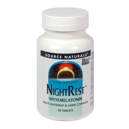 Source Naturals Sleep Science NightRest with Melatonin - 50 Tablet