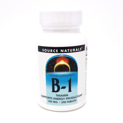 Source Naturals Vitamin B 1 100 mg 250 tabs